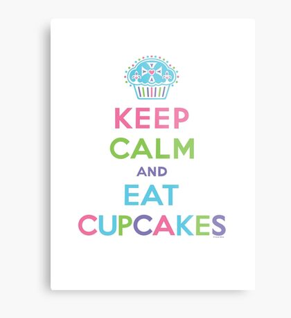 Keep Calm and Eat Cupcakes - on darks Metal Print