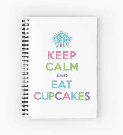 Keep Calm and Eat Cupcakes - on darks Spiral Notebook