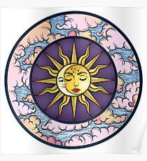 Mond und Sonne Poster