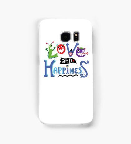 Love & Happiness  - beige Samsung Galaxy Case/Skin