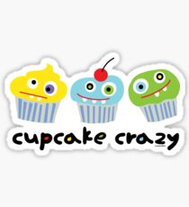 Cupcake Crazy - beige Sticker