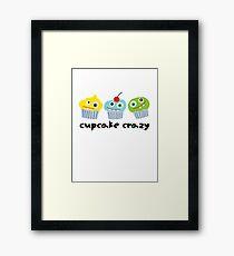 Cupcake Crazy - beige Framed Print