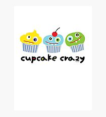 Cupcake Crazy - beige Photographic Print