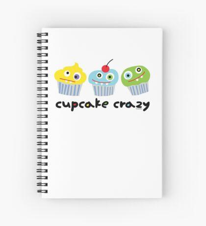 Cupcake Crazy - beige Spiral Notebook