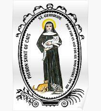 Saint Gertrude Patron of Cats Poster