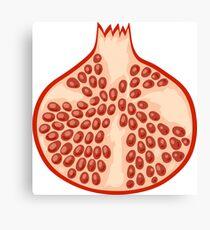 Funny pomegranate illustration  Canvas Print
