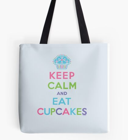 Keep Calm and Eat Cupcakes - beige Tote Bag