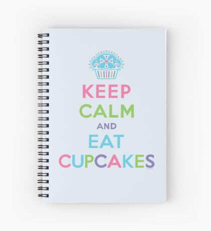 Keep Calm and Eat Cupcakes - beige Spiral Notebook