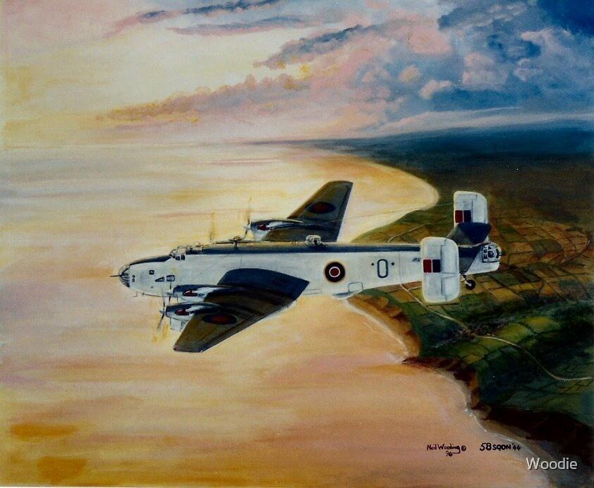 Halifax 58 Sqdn Coastal Command by Woodie