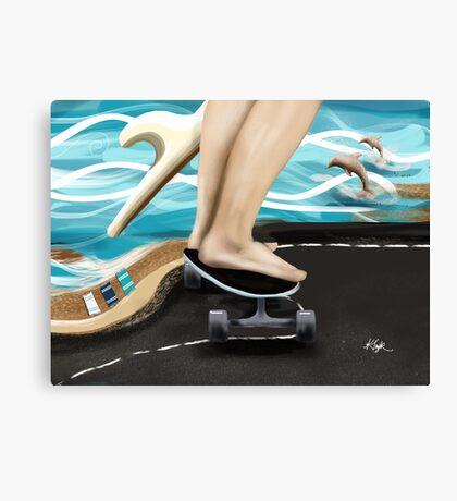 Seaside Skater Canvas Print