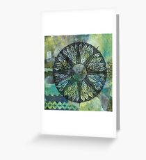 Crosscut Mandala Greeting Card