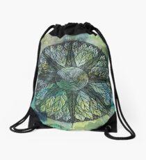 Crosscut Mandala Drawstring Bag
