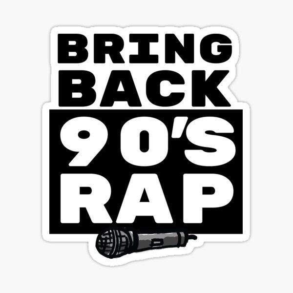 Rap / Hip Hop Gift - 90s Rapper Lover Art - Rap Music with Microphone Illustration Sticker