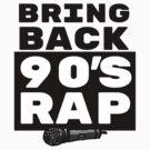 Rap / Hip Hop Gift - 90s Rapper Lover Art - Rap Music with Microphone Illustration by sketchNkustom