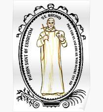 Saint Bruno Patron of Exorcism Poster