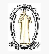 Saint Bruno Patron of Exorcism Photographic Print