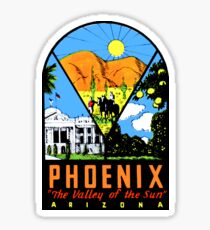 Phoenix Arizona Vintage Travel Decal Sticker