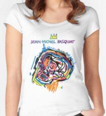 Jean Michel Basquiat Head Version 2 Women's Fitted Scoop T-Shirt