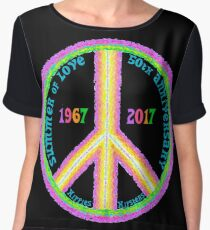Summer of Love 50th Anniversary - Hippies to Hipsters Women's Chiffon Top
