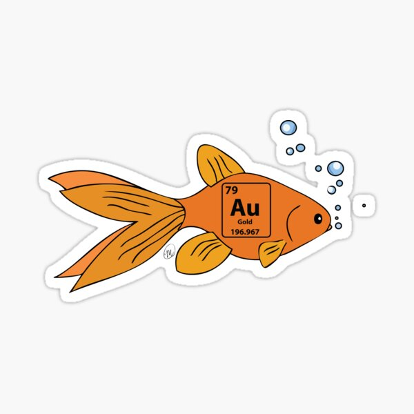 Gold Fish Sticker