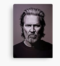 Jeff Bridges Painting Canvas Print
