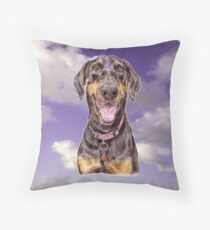 Doberman Pinscher to Fall in Love With  Throw Pillow