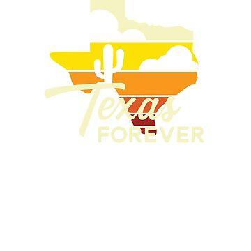 Texas Forever Vintage Sunset Design by TexasLove