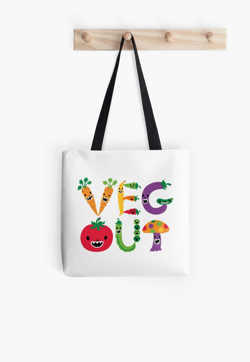 Veg Out - white by Andi Bird
