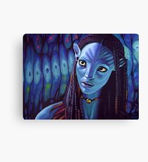 Zoe Saldana as Neytiri in Avatar Canvas Print