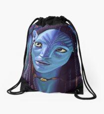 Zoe Saldana as Neytiri in Avatar Drawstring Bag