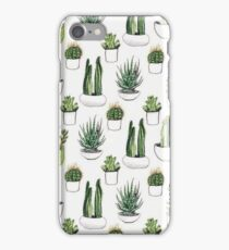 Potted Green Cacti and Succulents iPhone Case/Skin