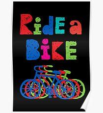 Ride a Bike - sketchy - black Poster