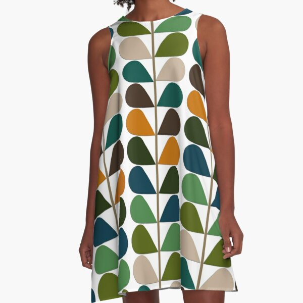 Retro 60s Mid Century Modern Pattern 2 A-Line Dress