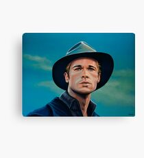 Brad Pitt Painting Canvas Print