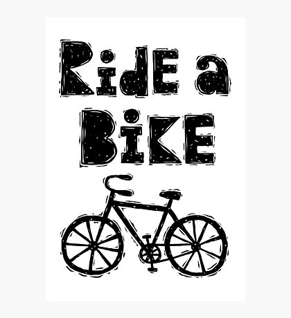 Ride a Bike - woody  Photographic Print