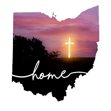 Ohio is home...Sunset cross by LESLIEDYESIGN