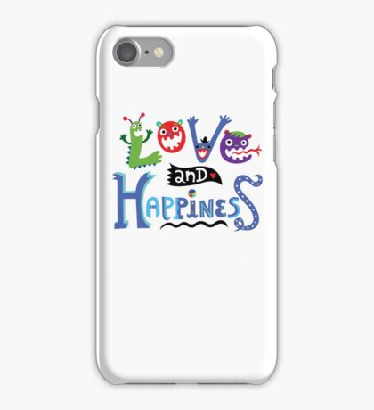 Love & Happiness iPhone Case/Skin