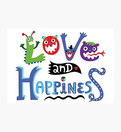 Love & Happiness Photographic Print