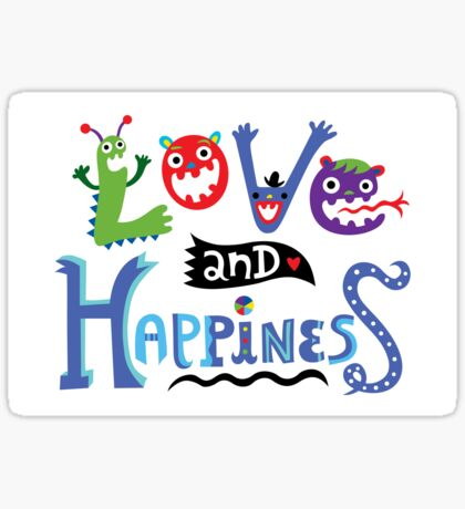 Love & Happiness Sticker