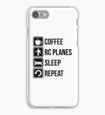 Coffee RC Planes Sleep Repeat iPhone Case/Skin