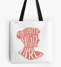 Obstinate, Headstrong Girl Pride and Prejudice Jane Austen Quote Design Tote Bag