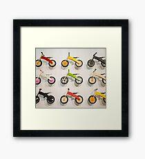 Funny Bike Phone Framed Print
