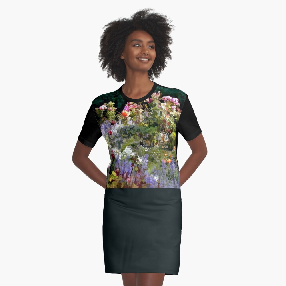 Riot of Roses Graphic T-Shirt Dress Front