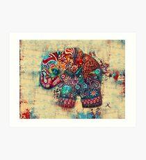 Vintage Elephant TShirt Art Print