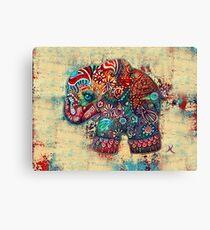 Vintage Elephant TShirt Canvas Print