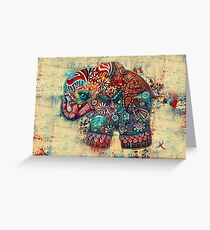 Vintage Elephant TShirt Greeting Card