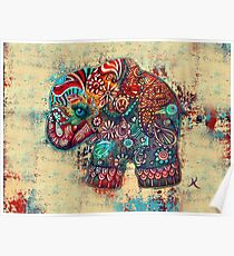 Vintage Elephant TShirt Poster