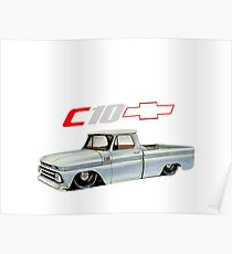 Chevy C10 with Logo Poster