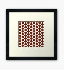 Mid Century Modern Retro 60s Waves Pattern  (Red Orange Darker) Framed Print