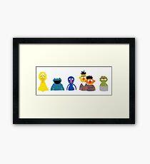 Simple Sesame Framed Print